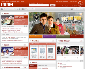 BBC website at www.bbc.co.uk